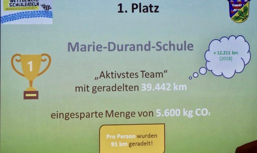 """MDS ist """"Aktivstes Team"""" beim Wettbewerb Schulradeln"""